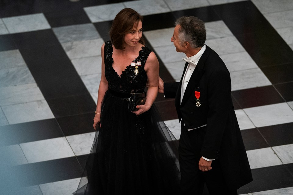 Sofie Gråbøl og Frankrigs ambassadør i Danmark François Zimeray. Foto: Martin Sylvest/Scanpix Ritzau