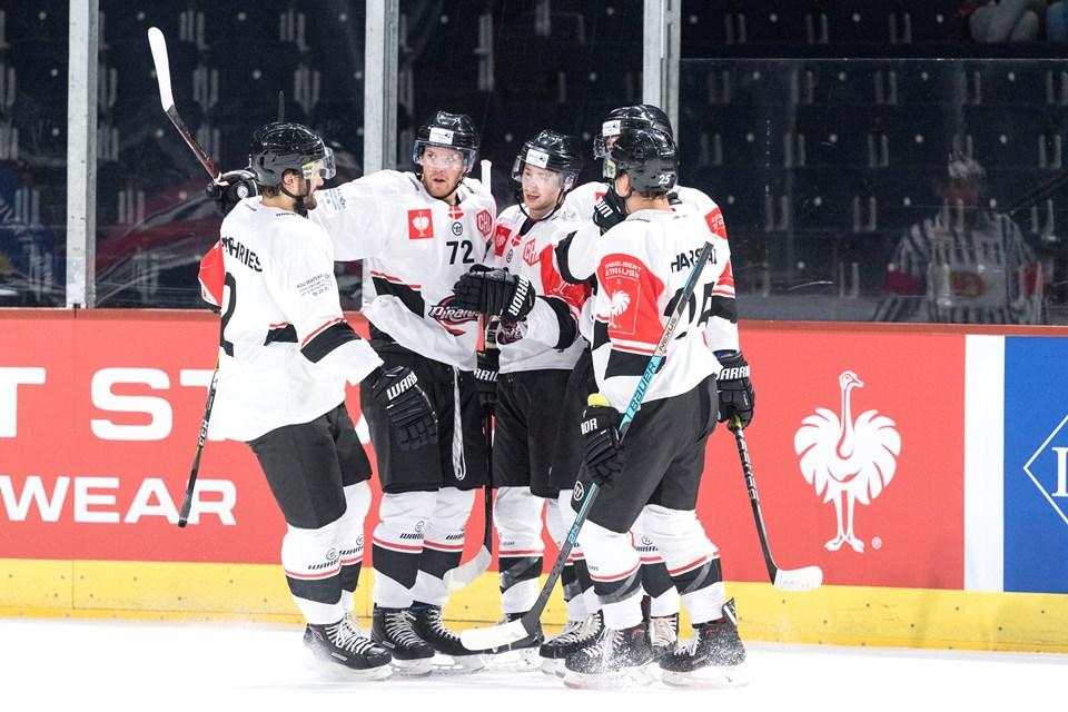 Aalborg Pirates imponerede og scorede fem gange i Zürich. Foto: Torben Hansen