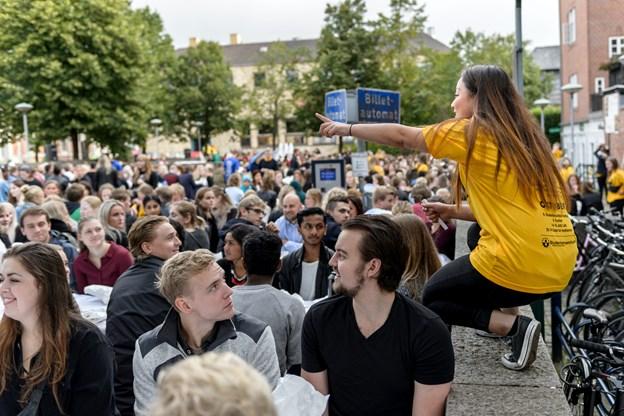 Tidligere har Studentersamfundets velkomst været på Gammel Torv - i år er arrangementet rykket til Honnørkajen.Foto: Nicolas Cho Meier
