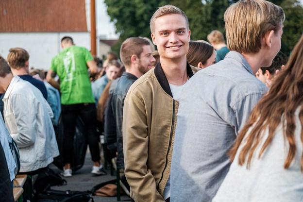 Her ses Jakob Dyrholm fra Esbjerg, der glæder sig til at komme i gang med studiet.