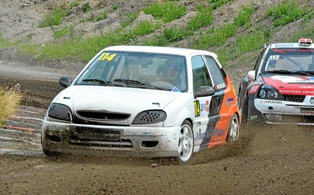 Emil Nielsen er tæt på DM-titlen i Super 1600 for rallycross.