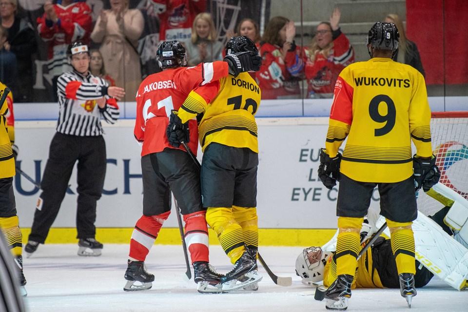 Aalborg PIrates spiller hjemme i Gigantium imod Vienna Capitals i Champions Hockey League. Foto: Henrik Bo