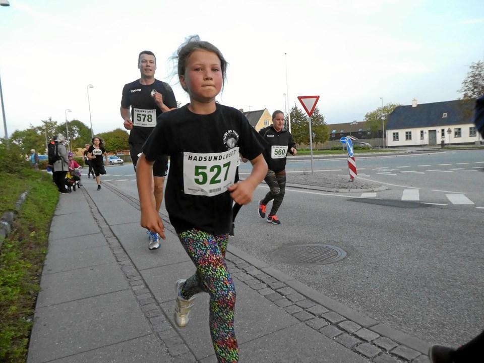 Ungdommen var stærkt repræsenteret i årets Hadsund-løb - bl. a. med hele 345 elever fra Hadsund Skole.  Privatfoto