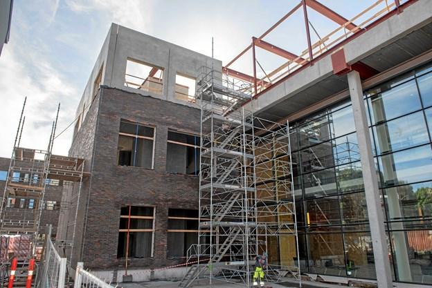 Der er rejsegilde på den nye sygehusafdeling i Hjørring  Foto: Region Nordjylland
