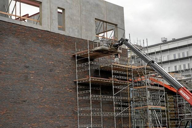 Byggeriet er oppe i fuld højde  Foto: Region Nordjylland