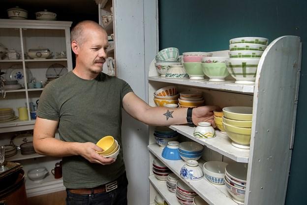 Mikkel Aagaard har netop droppet sit job i it-branchen for at parret kan satse helhjertet på både marked og butikker.