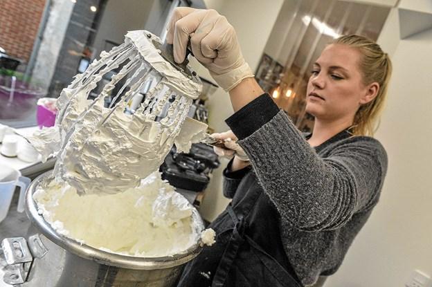 Louise Gravgaard rammer den perfekte skum.Foto: Ole Iversen