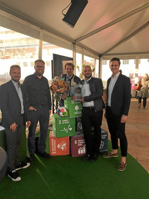 Prisen blev overrakt i forbindelse med Aalborg Bæredygtighedsfestival, som har varet hele ugen.Foto: Aalborg Kommune