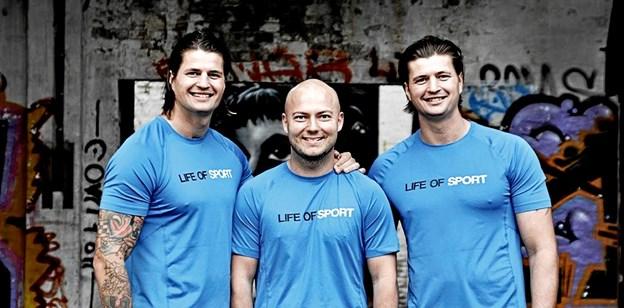 Trekløveret bag Life of Sport er fra venstre Kasper Fruensgaard, Martin Ovesen og Morten Fruensgaard. Arkivfoto: Life of Sport