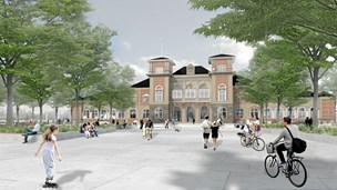Midt i Aalborg: Bilister overhales af cyklister og busser