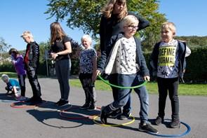 Terndrups elever konkurrerede: Ølpong - med vand - var det sjoveste