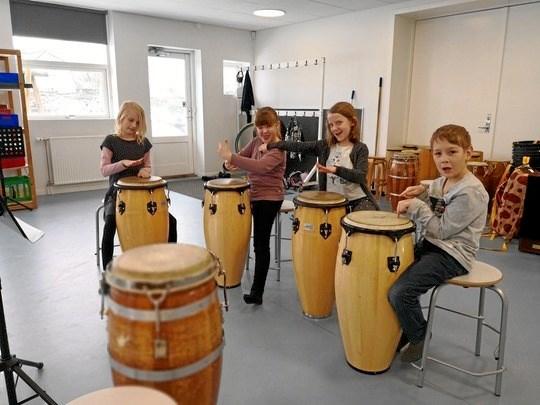 Der er fart på fantasien i Kulturskolens musikalske grundskole
