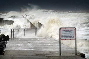 Stormen Knud har ændret retning inden landgang i det nordjyske