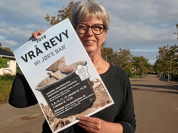 Vrå-Revyen er nu kommet på plakaten