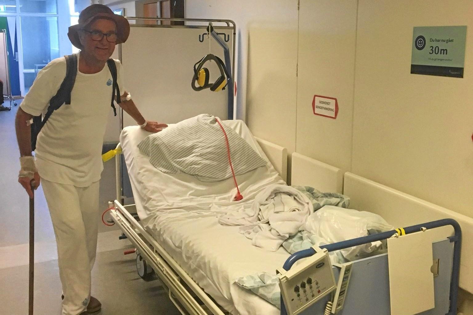 Sygehus - galehus: Erik må tage høreværn på for at udholde indlæggelse