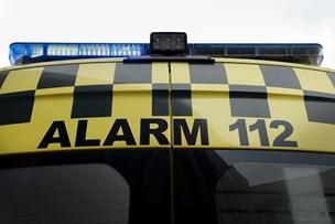 Bilist på sygehus efter uheld i rundkørsel