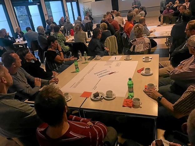Deltagerne blev inddelt i grupper.