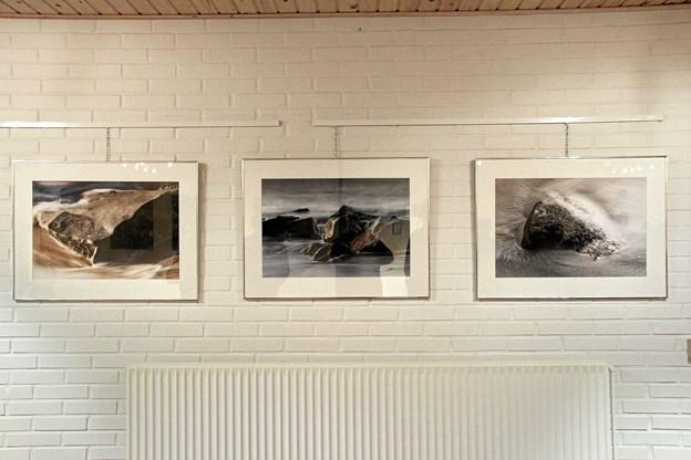 Der var mange smukke ting at se på. Som her tre smukke fotografier, lavet af Knud Lützhöft. Foto: Hans B. Henriksen