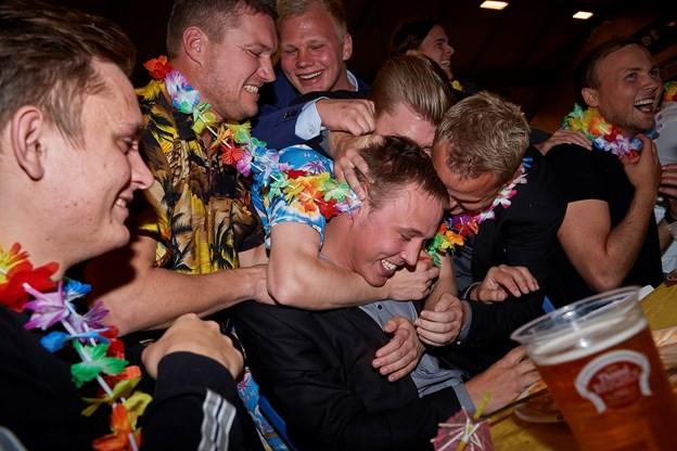 Der var hyldest fra kammeraterne. Foto: Henrik Bo