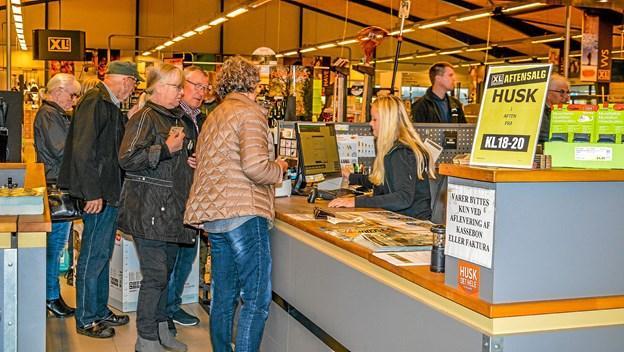 Der var gang i kasse apparaterne torsdag aften i Tømmergaarden. Foto: Mogens Lynge