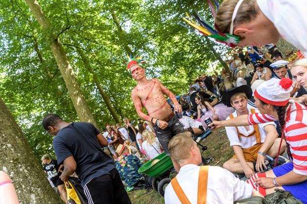 Aalborg Karneval 2018 satte deltagerrekord med 80.000 i paraden og dermed også rekordmange til festen i Kildeparken.   Arkivfoto: Nicolas Cho Meier