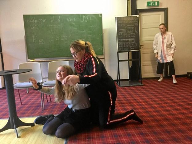 Dramaeleverne kunne arbejde med at lave scener...