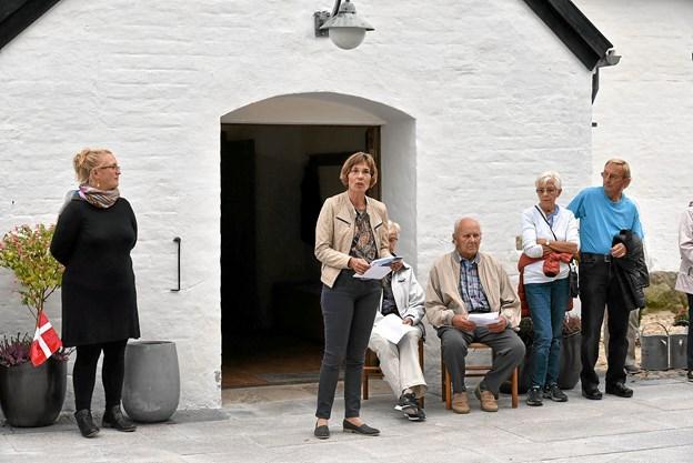 Provst Winnie Nørholm Rischel udtrykte glæde over at tilgængeligheden for handicappede og dårligt gående er øget. Foto: Niels Helver