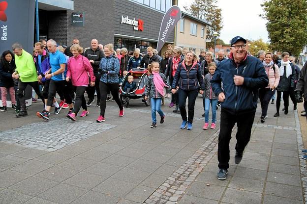 Så gik starten på årets løb. Foto: Flemming Dahl Jensen