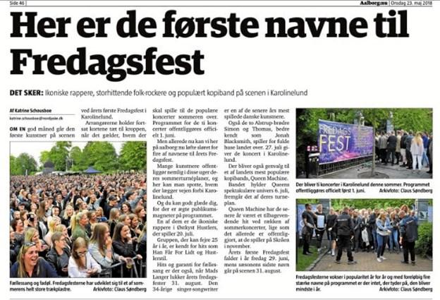 Afsløringen af nogle af navnene til årets Fredagsfest blev en af årets største hit på nettet.