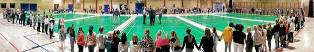177 børn fyldte pænt op i den store hal. Foto: Karl Erik Hansen