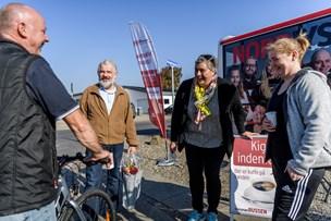 NORDJYSKE Bussen stoppede i Vester Hornum: Se billederne