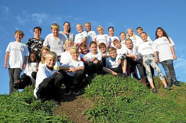 5.d på Terndrup skole løb for børn med gigt