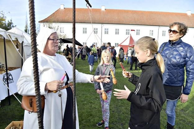 Middelaldermarked på Vitskøl KlosterTherese uldall- JessenFoto: Bente Poder