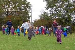 Dagplejebørn i bevægelse