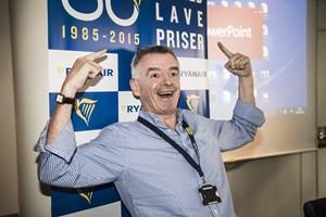 Ryanairs administrerende direktør Michael O'Leary siger til CNBC, at SAS eller Norwegian vil gå konkurs snart.