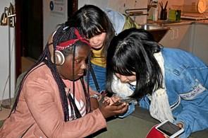 Internationale studerende besøgte Tolne Efterskole