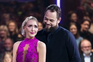 """Mille Funk og Esben Dalgaard var tæt på finalen, men røg fredag aften ud af """"Vild med dans""""."""