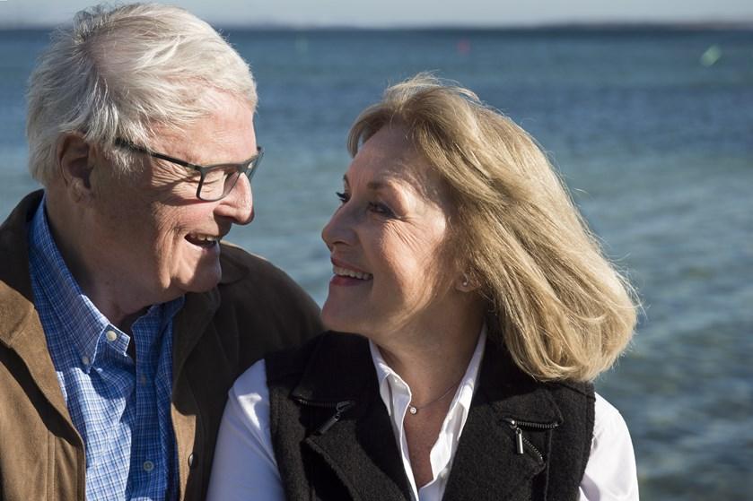 Susse Wold og Bent Mejding er blevet enige om, at deres aske skal spredes over havet, når de dør.