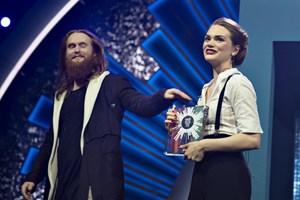 """Leonora vandt lørdag aften Dansk Melodi Grand Prix med sit nummer """"Love Is Forever""""."""