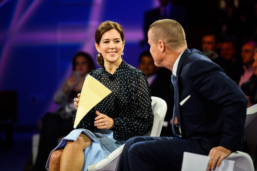 Den danske kronprinsesse er blevet mødt med stor interesse i Texas, hvor hun har fortalt om danske styrker.