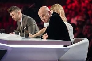 """Thomas Blachman var langtfra tilfreds, da hans deltager Gina Michaels fredag aften røg ud af """"X Factor""""."""
