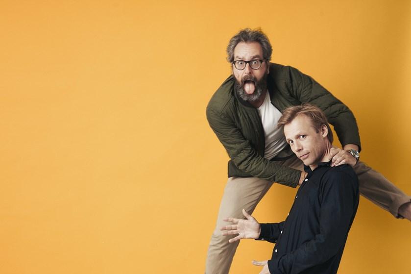 """Mikael Wulff og Anders Morgenthaler har skabt animationsfilmen """"Mugge og vejfesten""""."""