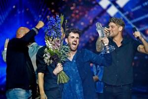"""Hollands Duncan Laurence vinder lørdagens internationale melodigrandprix i Tel Aviv med sangen """"Arcade""""."""