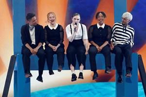 Det blev til en 12.-plads for den danske sangerinde i Eurovision, og den er hun tilfreds med.