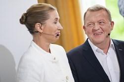 I helsidesannoncer forsøger statsminister Lars Løkke Rasmussen at gøre opmærksom på uenigheder i rød blok.