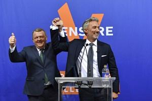 Statsminister Lars Løkke glæder sig over, at partiet har fået det bedste valg nogensinde til EU-Parlamentet.