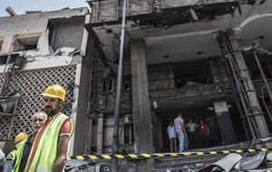 """Egyptens præsident har kaldt voldsom eksplosion i Kairo for en """"terroristhændelse""""."""