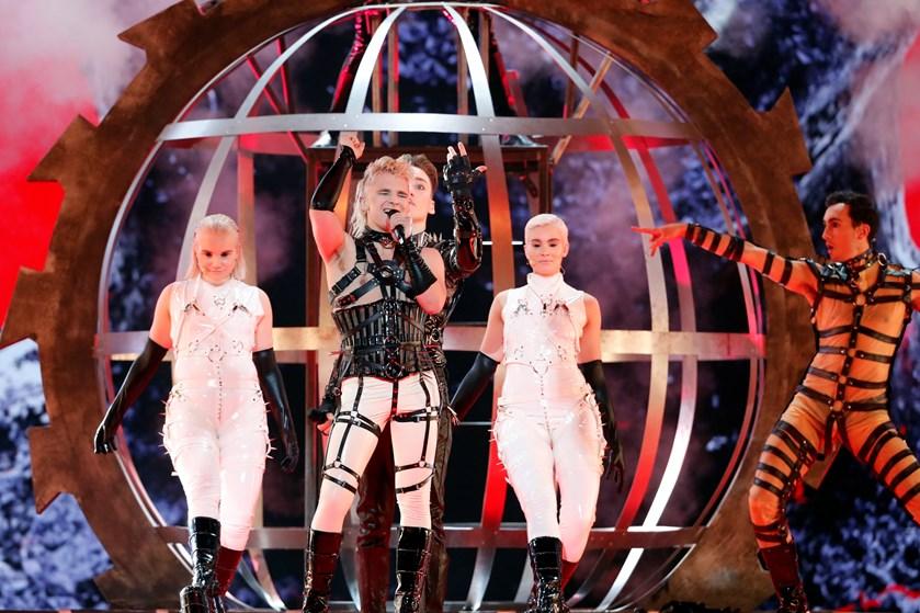 Det var i strid med reglerne, da islandsk gruppe viftede med palæstinensiske flag under Eurovision i Tel Aviv.