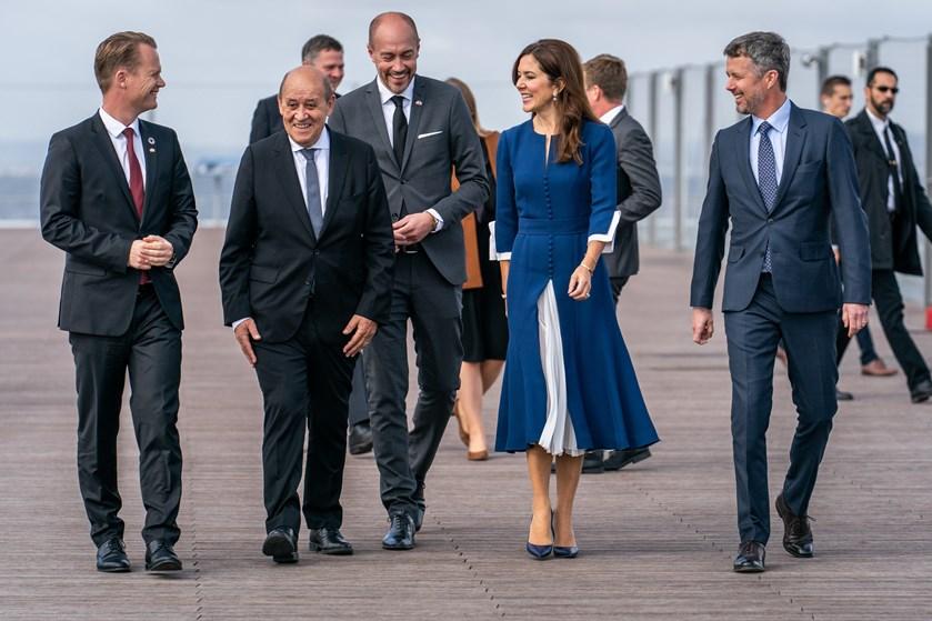 Kronprinsparret er mandag til onsdag i Frankrig til et erhvervsfremstød. Mandag aften er de til jubilæum.