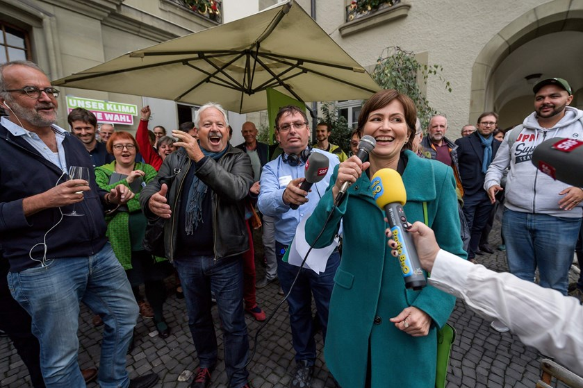 Det Grønne Parti kan måske håbe på at veksle stor fremgang til en sensationel plads i landets Forbundsråd.